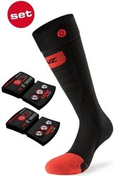 Ponožky set LENZ Heat Sock 5.0 Toe Cap + lithium 1200